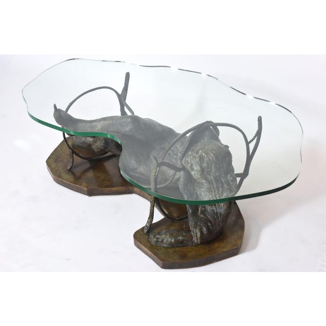 Rare and Important Phillip and Kelvin Laverne Bronze Table For Sale In Miami - Image 6 of 8