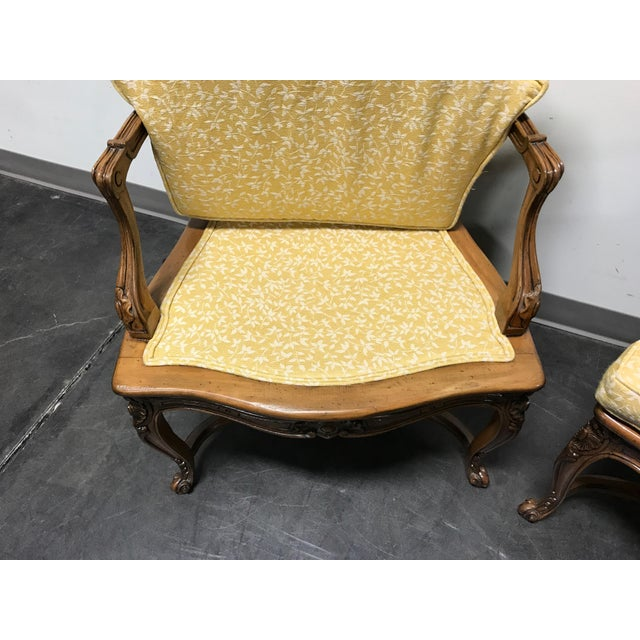 Carved French Style Open Armchairs with Cane Backs - A Pair - Image 7 of 11