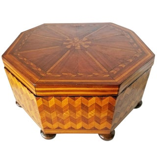 Early 20th Century Antique French Marquetry Sewing Box For Sale