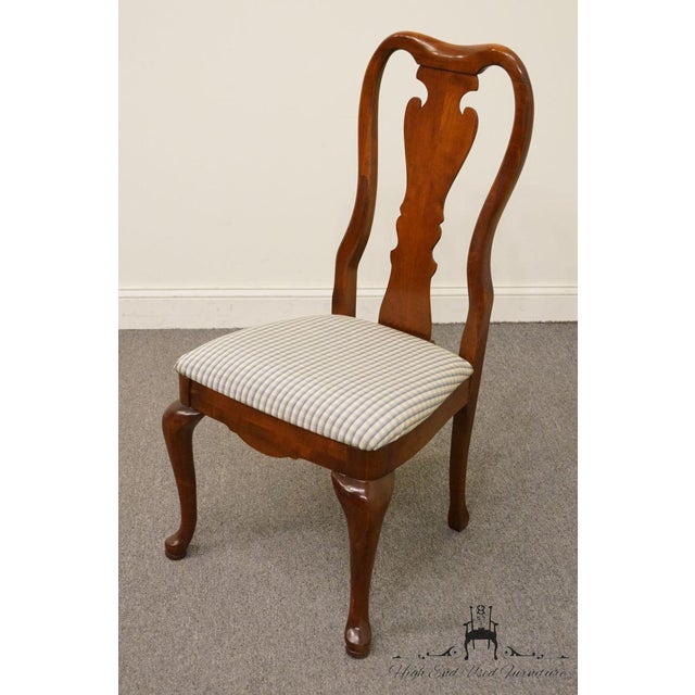 Thomasville Late 20th Century Vintage Thomasville Furniture Collectors Cherry Queen Anne Style Dining Side Chair For Sale - Image 4 of 10