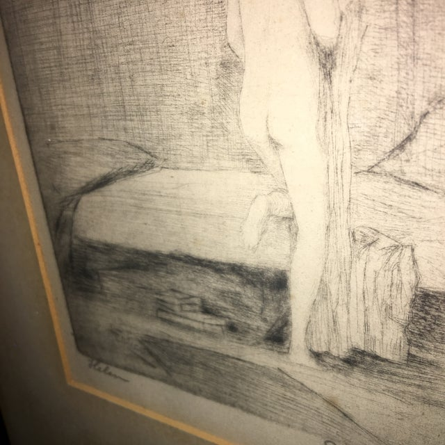 """Leon Dolice """"Helen """" Etching on Paper Print For Sale - Image 5 of 7"""