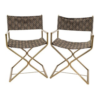 Vintage Mid Century Directors Chairs - a Pair For Sale