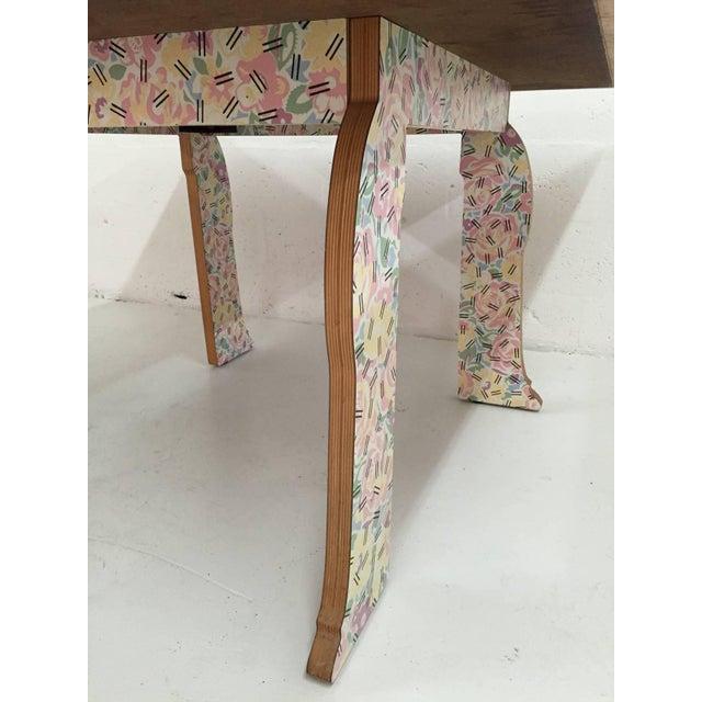 "Plastic Robert Venturi ""Cabriole Leg"" Table for Knoll For Sale - Image 7 of 8"