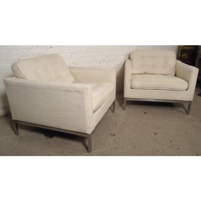 Mid-Century Upholstered Armchairs by Knoll Associates - a Pair For Sale - Image 10 of 10