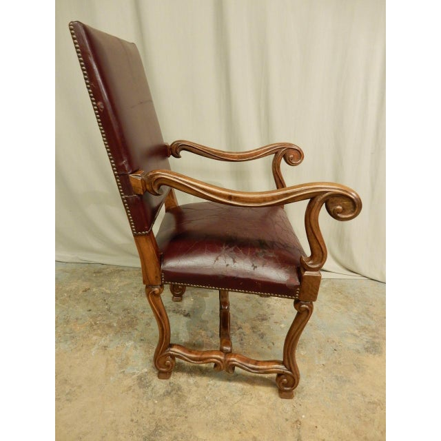 Spanish Louis XIV Style Arm Chair For Sale - Image 4 of 9
