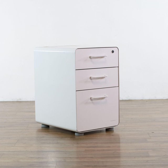 Contemporary Poppin White File Cabinet For Sale - Image 3 of 9