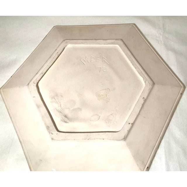 Tan Vintage Ceramic Dog Plates - Set of 4 For Sale - Image 8 of 11
