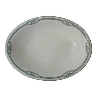 Vintage Art Deco Style Meito Oval Serving Bowl For Sale