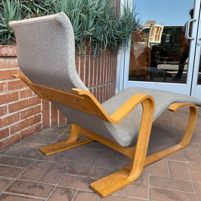 Gray 1980s Marcel Breuer Chaise Lounge For Sale - Image 8 of 13