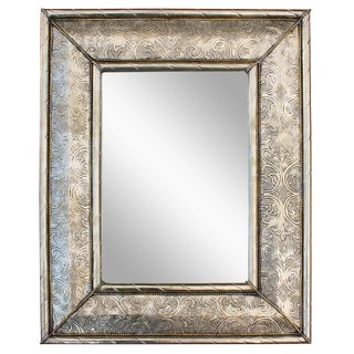 Late 20th Century Hand-Engraved Moroccan Mirror For Sale