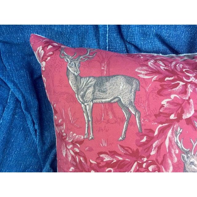 Vintage F. Schumacher Woburn Meadow Deer Pillows - A Pair - Image 4 of 10