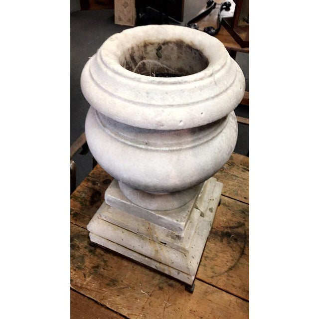 Mid 19th Century 19th Century Antique Marble Urn For Sale - Image 5 of 5