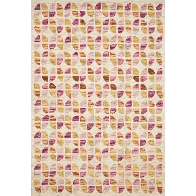 "Contemporary Justina Blakeney X Loloi Rugs Hallu Rug, Ivory / Sunset - 7'9""x9'9"" For Sale - Image 3 of 3"