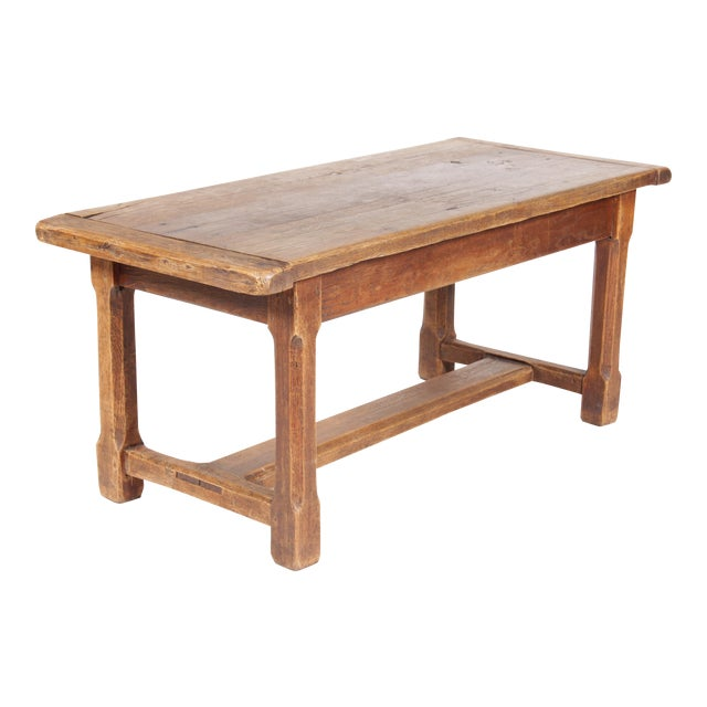 Antique Monestary-Style Oak Coffee Table - Image 1 of 9