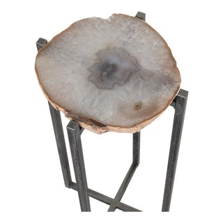 Gray Agate Drink Table For Sale