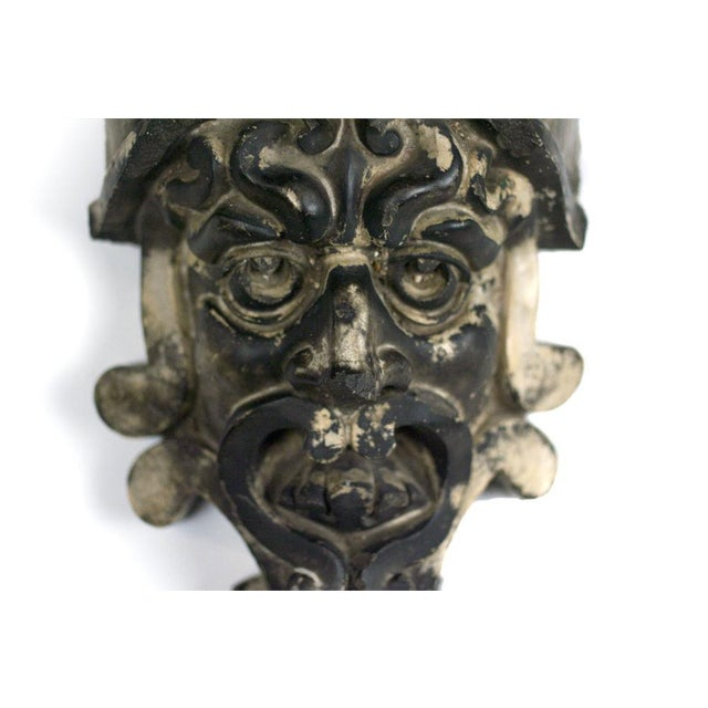Mid-Century Modern Pre-Columbian Style Terra Cotta Mask For Sale - Image 3 of 4