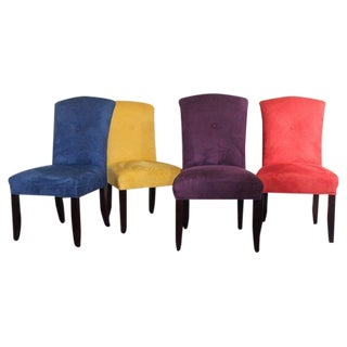 Bold & Bright Ultra Suede Dining Chairs - Set of 4