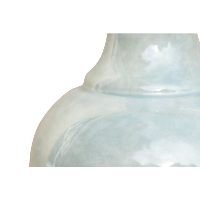 Ceramic Vases in Pastel Mint, a Pair For Sale - Image 4 of 6