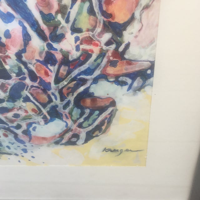 Mid-Century Abstract Painting by H. Kruger - Image 3 of 5