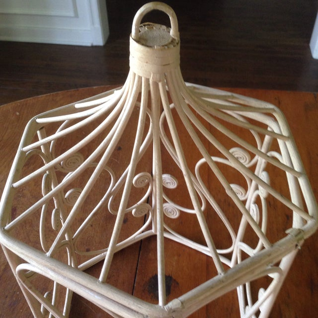 Vintage Rattan Wicker Birdcage - Image 5 of 11