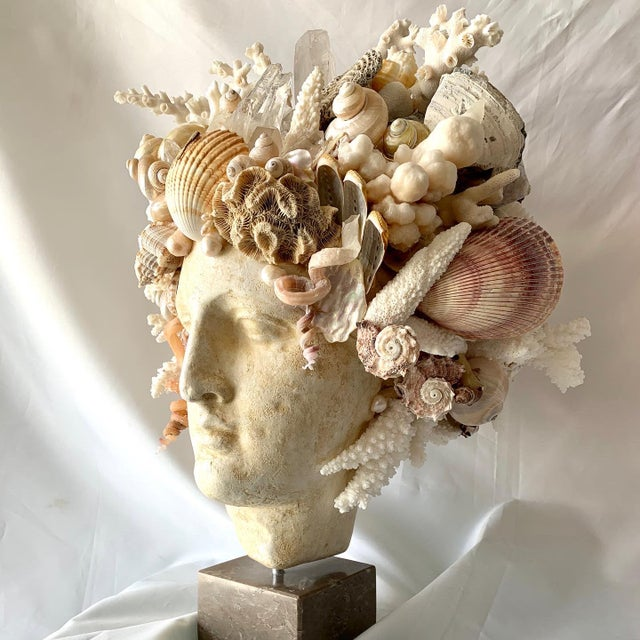Marvelous Shell, Sponge, Pearl, Rick Crystal head of Hygiea, Greek Goddess of health and well-being. I spent weeks on her,...