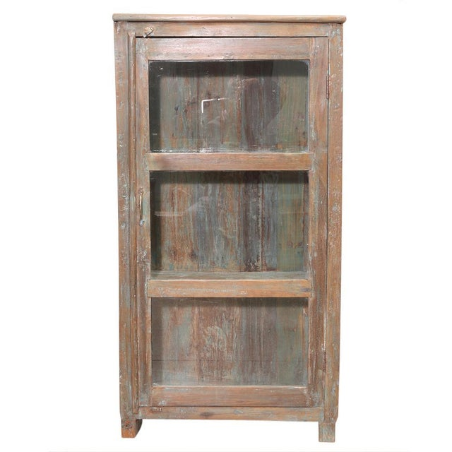 British Colonial Glass Cabinet For Sale - Image 5 of 5