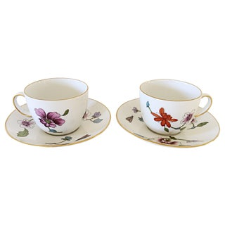 Royal Worcester Cups & Saucers - A Pair