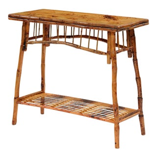 Occasional Table, Brown, Rattan For Sale
