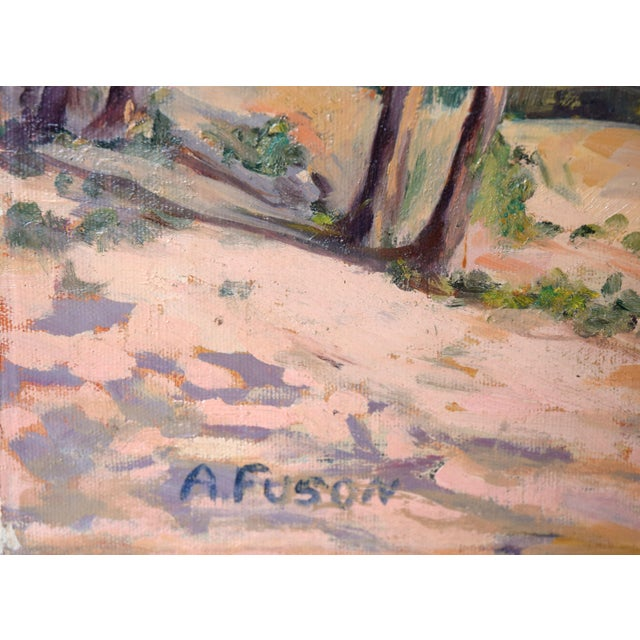 1950s Vintage California Forest and Stream Painting For Sale - Image 4 of 4