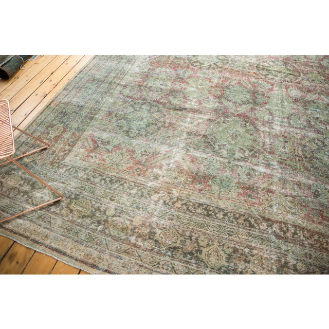 "Vintage Distressed Mahal Carpet - 10'5"" X 13'11"" For Sale - Image 12 of 13"