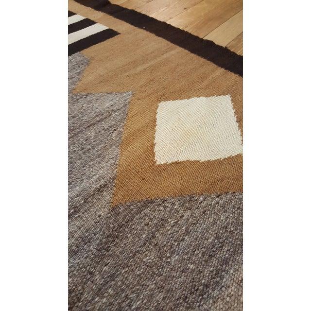 "Textile 20th Century Folk Art Navajo Carpet - 4'6""x7' For Sale - Image 7 of 9"