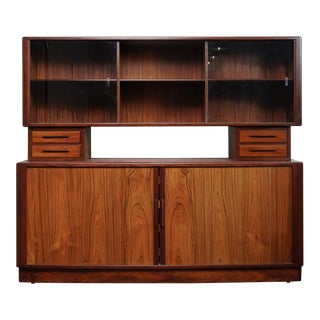 Hp Hansen Rosewood Credenza and Hutch For Sale