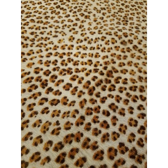 Cheetah Printed Cowhide - 5′8″ × 7′ - Image 5 of 5