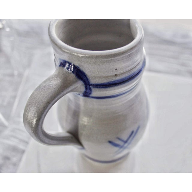 Alsace Pottery French Betschdorf Salt Glazed Pitcher Jug For Sale In Boston - Image 6 of 9