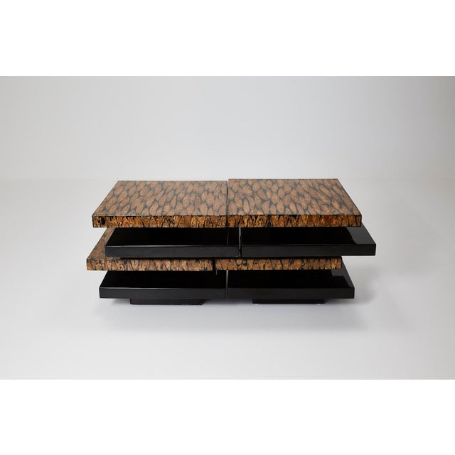 1990s Contemporary Stacked 2-Part Coffee Table For Sale - Image 11 of 11