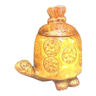 1960s Vintage McCoy Ceramic Turtle Cookie Jar For Sale