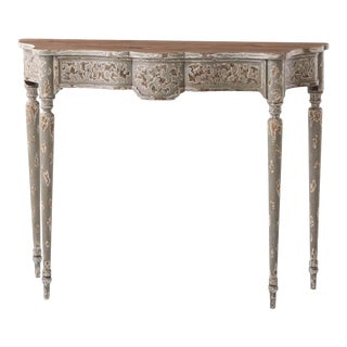 French Provincial Gray Console Table For Sale