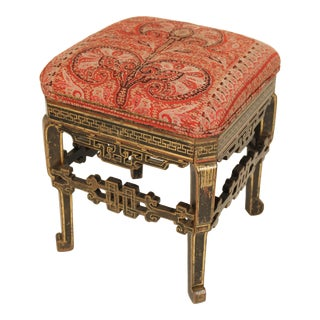 Late 19th Century Continental Painted and Partial Gilt Bench For Sale