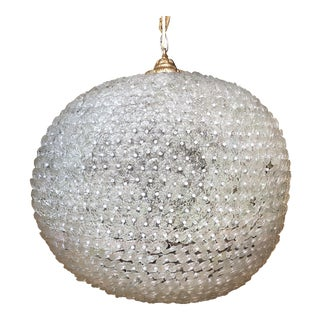 Glass & Pearl Sphere Chandelier
