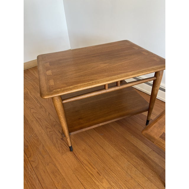 Mid-Century Modern Lane Furniture Acclaim Series by Andre Bus Side Tables - A Pair For Sale - Image 3 of 4