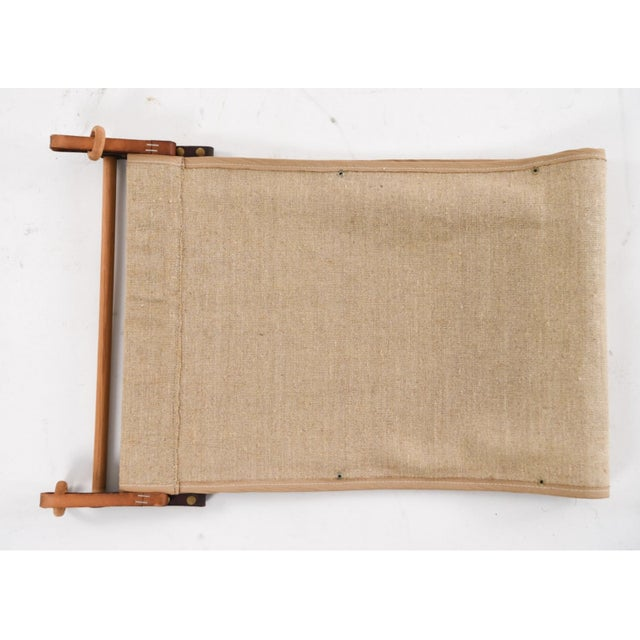 Mid-Century Wallmount Canvas Leather Magazine Rack For Sale - Image 4 of 6