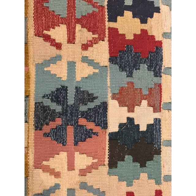 """Textile Vintage Turkish Flat Weave Kilim Rug - 3'3"""" x 6'3"""" For Sale - Image 7 of 11"""