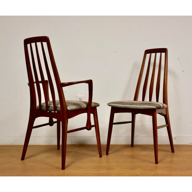 Wood Dining Chairs by Niels Koefoed for Hornslet - Set of 8 For Sale - Image 7 of 12