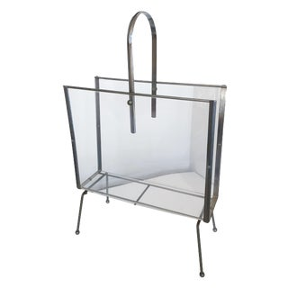 Retro Lucite Magazine Rack