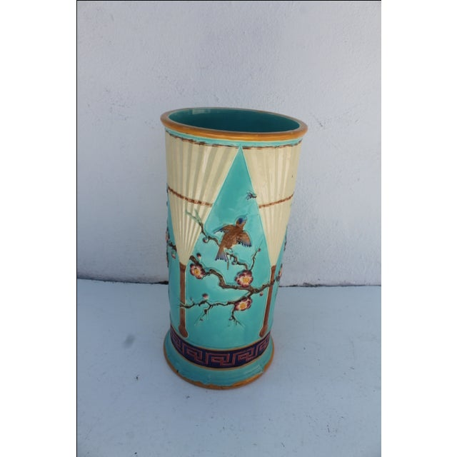 Vintage Hand Painted Ceramic Umbrella Stand - Image 3 of 8
