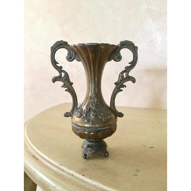 Italian Engraved Metal Bud Vase - Image 2 of 5