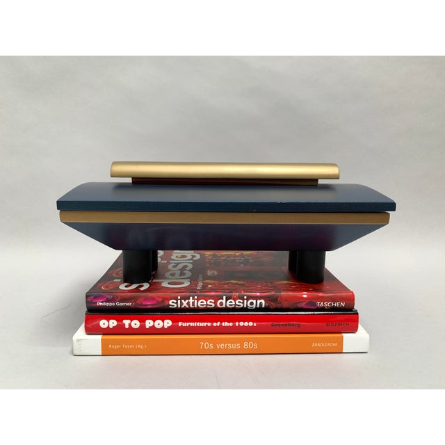 Vintage Postmodern Memphis Style Artisan Wood Lidded Box For Sale - Image 4 of 13