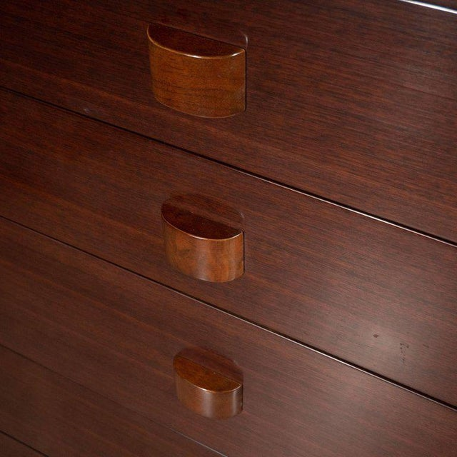 Gilbert Rohde Midcentury Chest in Bookmatched Walnut by Gilbert Rohde for Herman Miller For Sale - Image 4 of 8