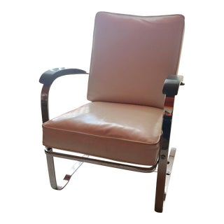 1930s MC Kay Furniture Co. Chrome Rocker