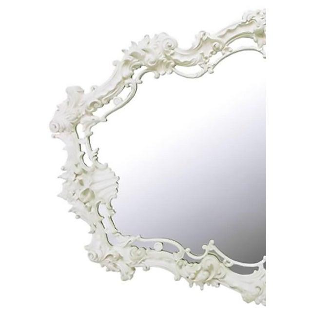 Italian Extraordinary Italian Rococo Mirror of White Lacquered Gesso For Sale - Image 3 of 7